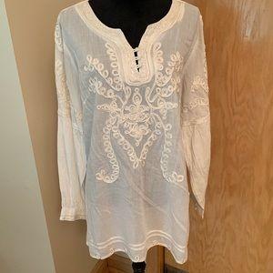Soft Surroundings white cotton tunic